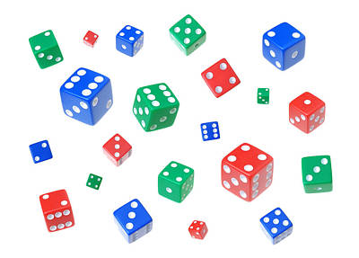 Lucky Dice Print by Jim Hughes