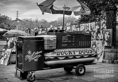 Lucky Dogs Wall Art - Photograph - Lucky Dogs In Jackson Square Nola Bw by Kathleen K Parker