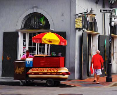 Hot Dogs Digital Art - Lucky Dogs - New Orleans by Bill Cannon