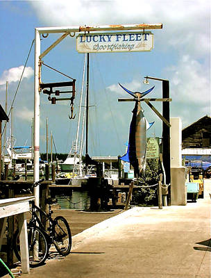 Painting - Lucky Fleet Key West  by Iconic Images Art Gallery David Pucciarelli