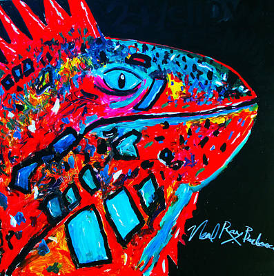 Painting - Lucky Iguana by Neal Barbosa