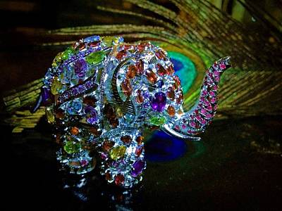 Photograph - Lucky Jeweled Elephant by Susan Maxwell Schmidt