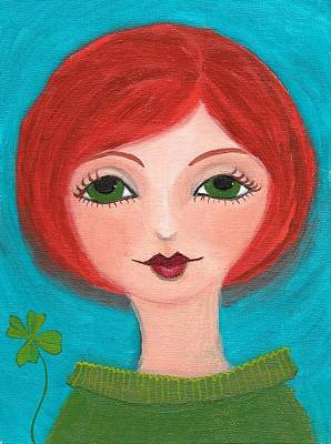 Art Print featuring the painting Lucky by Lisa Noneman