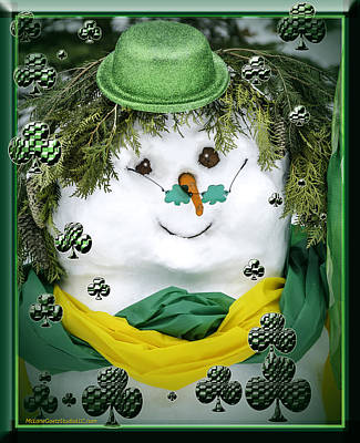 Photograph - Lucky Magic  Irish Snowman by LeeAnn McLaneGoetz McLaneGoetzStudioLLCcom