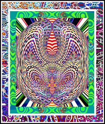 Reconstruction Digital Art - Lucky Rabbit Series by Rick Wolfryd