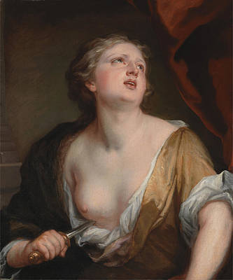 Kneller Painting - Lucretia by Godfrey Kneller