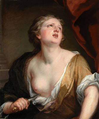 Kneller Painting - Lucretia, Sir Godfrey Kneller, 1646-1723 by Litz Collection