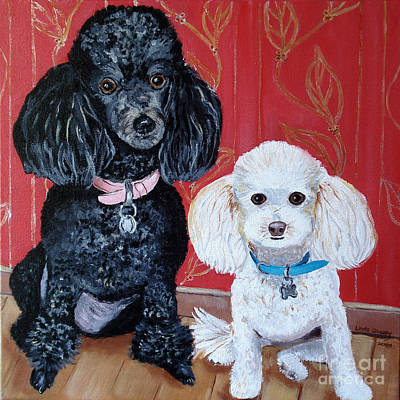 Lucy And Leopold Art Print by Linda Queally