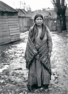 Photograph - Lucy From The Yakama Tribe 1912 by Mary Mires
