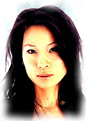 Lucy Liu  Art Print by Paul Quarry