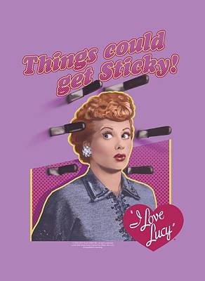 Lucille Ball Digital Art - Lucy - Things Could Get Sticky by Brand A