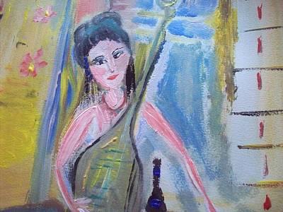 Lucy Warm Lute Original by Judith Desrosiers