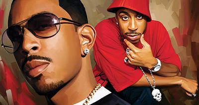 Rap Painting - Ludacris Artwork by Sheraz A