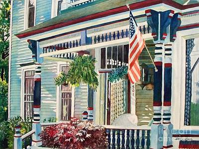 Painting - Ludington House B And B by LeAnne Sowa