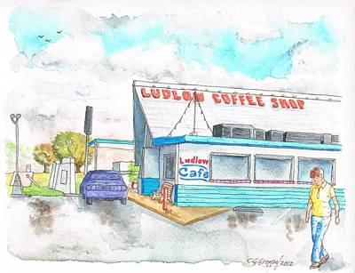 Ludlow Coffee Shop In Ludlow - California Original by Carlos G Groppa
