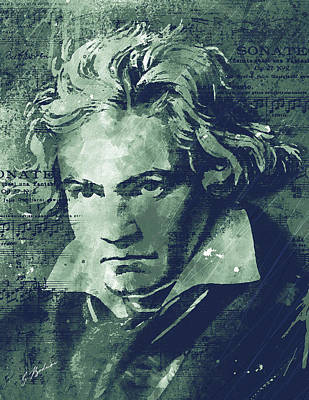 Composer Digital Art - Ludwig by Gary Bodnar