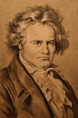 Alyssa Drawing - Ludwig Van Beethoven by Alyssa Kerr