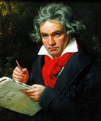 Ludwig Van Beethoven Art Print by Celestial Images