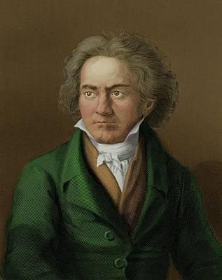 Beethoven Photograph - Ludwig Van Beethoven by Maria Platt-evans