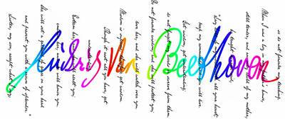 Ludwig Van Beethoven Signature Art Print by Daniel Hagerman