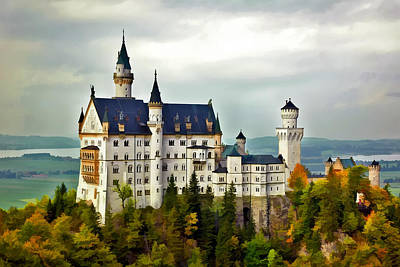 Neuschwanstein Castle In Bavaria Germany Art Print
