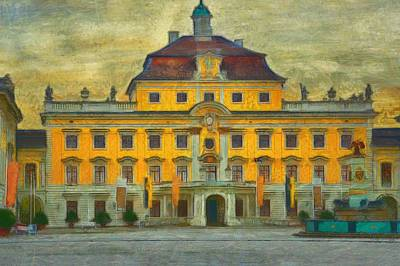 Inspired By Van Gogh Wall Art - Painting - Ludwigsburg Palace  by L Wright