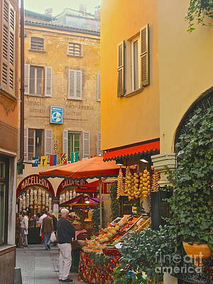 Photograph - Lugano Market by Suzanne Oesterling