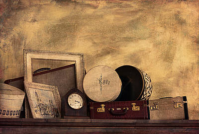 Interior Still Life Digital Art - Luggage And Memories by Maria Angelica Maira