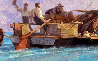 Farewell Painting - Luggage Boat by F.L.D. Bocion