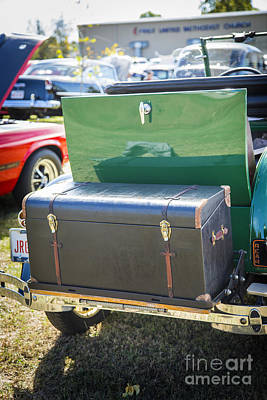 Photograph - Luggage Box For 1929 Ford Classic Automobile Car In Color  3056. by M K Miller