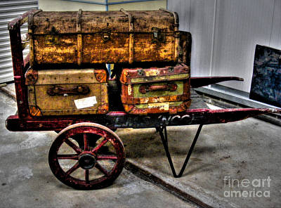 Irish Photograph - Luggage From The Past by Nina Ficur Feenan
