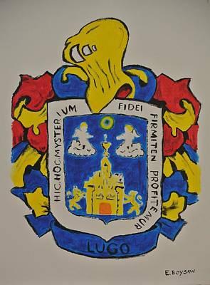 Genealogy Painting - Lugo Family Crest by Elise Boysaw
