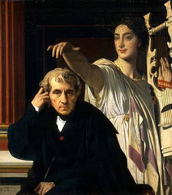 Luigi Cherubini And The Muse Of Lyric Poetry Art Print by Jean-Auguste-Dominique Ingres