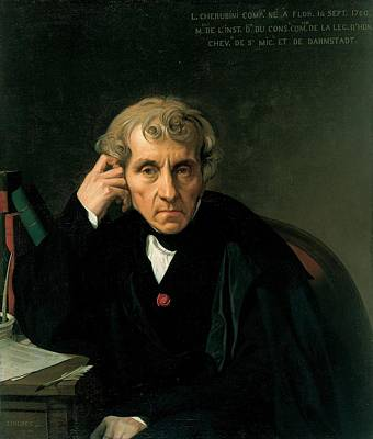 Luigi Cherubini Art Print by Jean-Auguste-Dominique Ingres