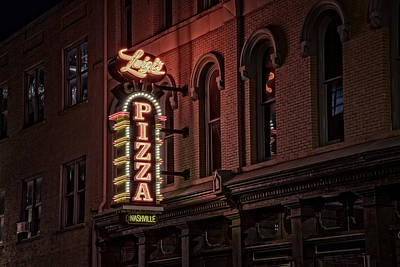Nashville Sign Photograph - Luigi's Pizza by Rick Berk