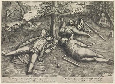 Luilekkerland, Cockaigne, Attributed To Pieter Van Der Print by Attributed To Pieter Van Der Heyden