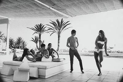 Party Photograph - Luis And Alvaro Figuerroa With Friends by Henry Clarke