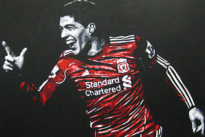Painting - Luis Suarez - Liverpool Fc 2 by Geo Thomson