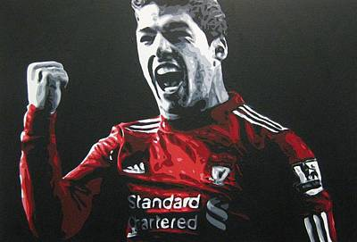 Painting - Luis Suarez - Liverpool Fc by Geo Thomson