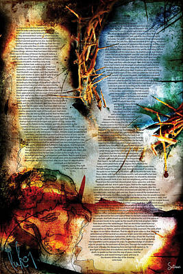 Crucify Digital Art Digital Art - Luke 1 by Switchvues Design