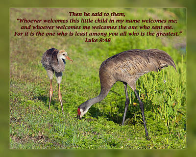 Luke 9 48 Print by Dawn Currie