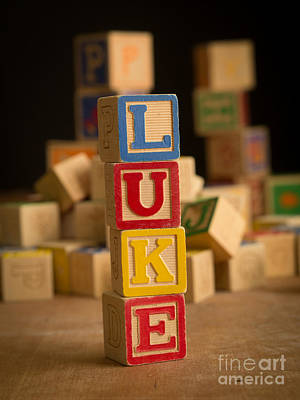 Photograph - Luke - Alphabet Blocks by Edward Fielding