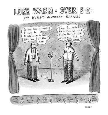 Luke Warm & Over Easy: The World's Blandest Art Print by Roz Chast