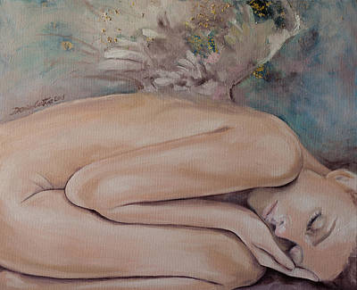 Angel Painting - Lullaby by Dorina  Costras