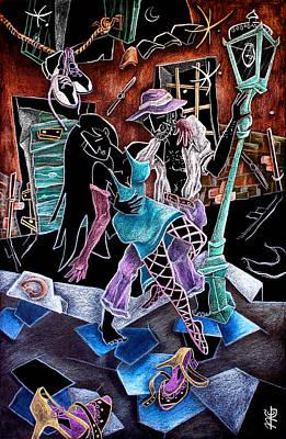 L'ultimo Tango - Artisti Pittori Veneziani Contemporanei Art Print by Arte Venezia