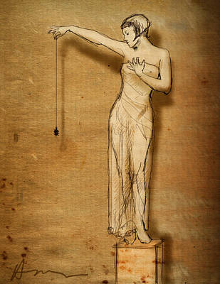 Caryatids Drawing - Lulu And The Spider by H James Hoff