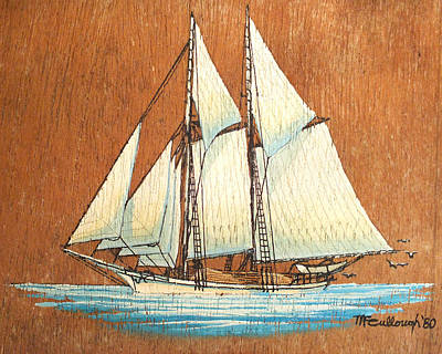 Painting - Lumber Schooner by Duane McCullough
