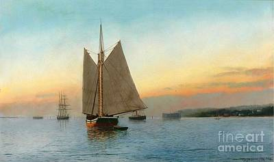 Painting - Lumber Schooner - New York Bay by Roberto Prusso