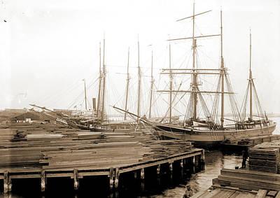 Lumber Wharfs, St Art Print