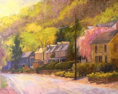 Lumberville Morning Original by Kit Dalton